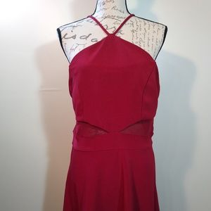 Red Cocktail Party Dress